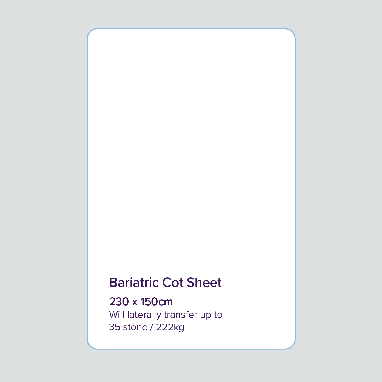 Image for Bariatric Cot Sheet